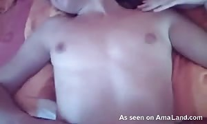 Close-up penetration of my surprising former girlfriend gf in the bed