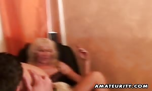 two vast chested brand new comer housewives home made hardcore threesome action with deepthroat blowjob, fuck and sperm shot !