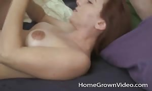 girl-friend on her back penetrated in the snatch