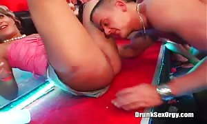 Astonishing drunk girls are offering a double rough rough blowjob