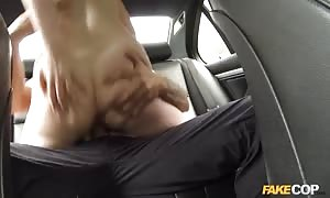 Cock-riding action in the truck in the video by pretend