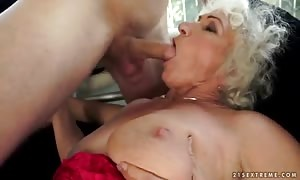 blonde aged woman named Norma banging with her neighbour at the weekends
