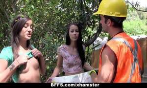 bff's - undressed teenagers bang Construction Worker