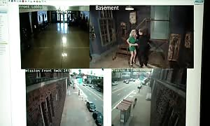 Simone Sonay inserted into By safety Guards In The Armory (720p)