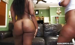 really extraordinary ebonies with gigantic chubby butts demonstrating their lubricated bodies