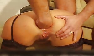 woman booty sex fisted and bottled - home made