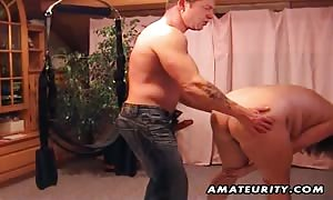 brand new comer lovers amateur xxx action on a strap on dildo system: face bang, butt playing and screw ending with jizz shot. extraordinary.