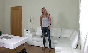blond getting your hands on interviewed by turned on fake Agent