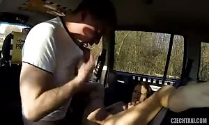 great amateur sex with turned on teen beauty in the video clip by Czech Taxi