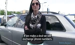 girl in sunglasses is fuckin' for cash in the video by Public Agent