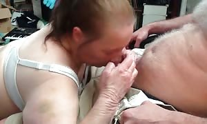 mature female with incredible aggressive rough blowjob abilities
