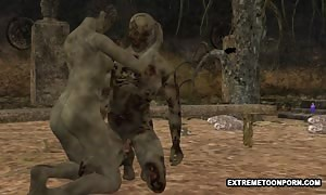 3D Zombie can get penetrated firm in a Graveyard