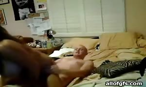 home-made sex with turned on curvy girlfriend