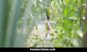 PunishTeens - ebony youngster tied, exploited And torn up In The Forest