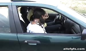 young school slut is being played by a pretend taxi agent