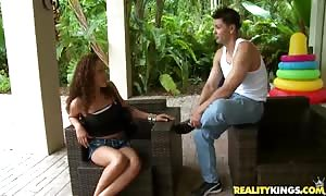 outstanding Tiana explains off her tasty anus