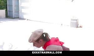ExxxtraSmall - petite female Scout Sells g-spot For a twat of Cookies