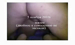 Two fuckers and their shared Russian girl-friend in the primary master bedroom