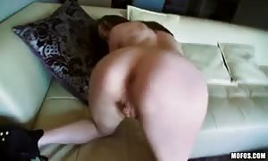 bald vag of a mouth-watering dark haired is penetrated for her main homemade porn