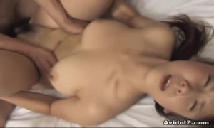 furry vagina Momo Aizawa riding dick rock hard!