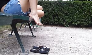 Candid university Spanish youngsters hot gam and toes