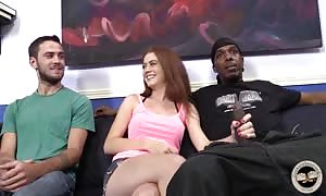 Two ebony fuckers banging white hooker wifey in front her sginificant other