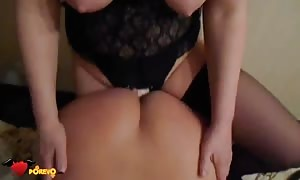 stunning sex with a strap on dildo adult toy in-between two Russian stunners