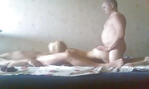 Two wide dudes are penetrating with an remarkable proficient blond