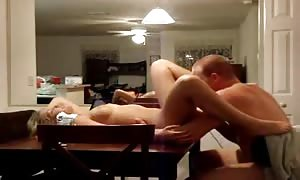 nailing his wife on the devouring apartment table