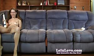 The Lelu Twins double vision mutual jerking off on couch
