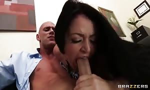 shocking Eva Notty and Sophie Dee conduct an interview with her brand fresh employee