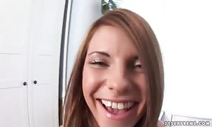 Megan showing her screwed cunt and deep throat a massive and lengthy sex toy